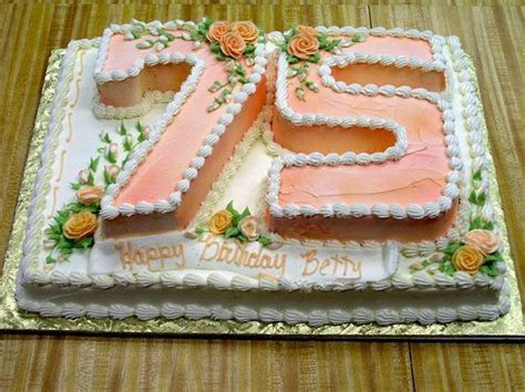 144 best 75th Birthday Cakes images on Pinterest