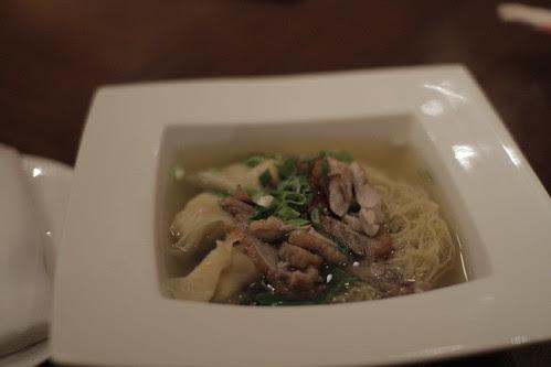 Delicious duck noodles