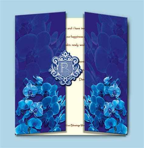 Orchid Theme Wedding Card   Srimal Cards   Manufacturer in