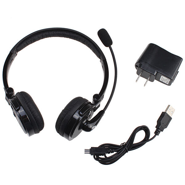 Wireless Bluetooth Stereo Headset Headphone Mic For Cellphone iPhone 6 5S PS3 PC   eBay