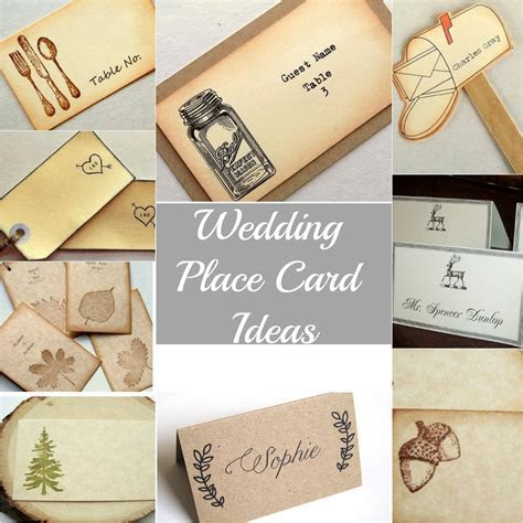 Rustic Wedding Place Cards   Rustic Wedding Chic