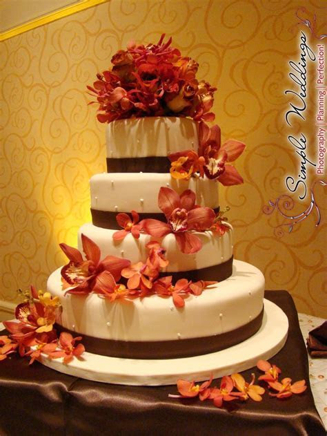 17 Best ideas about Brown Wedding Cakes on Pinterest