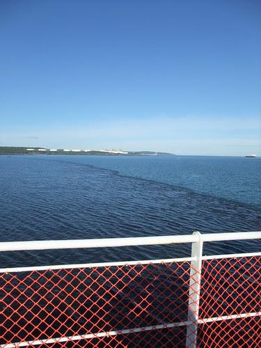 tidal bore near Saint John