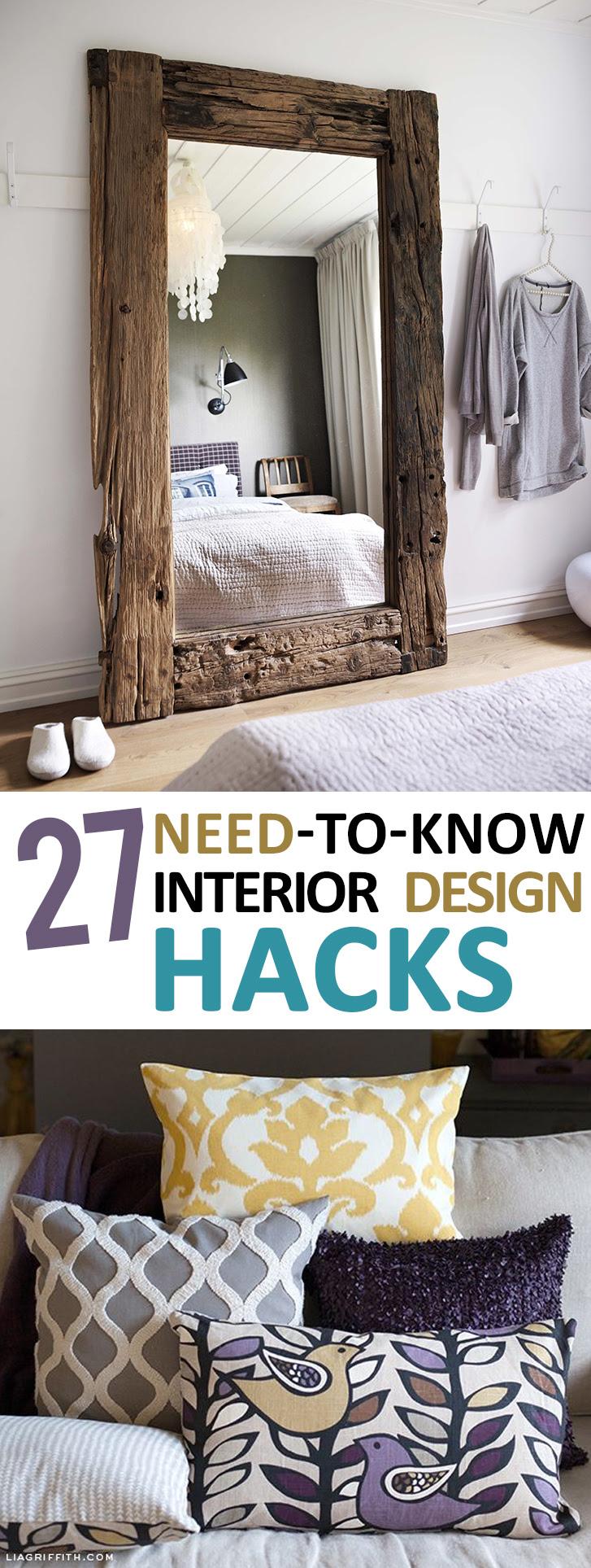 27 Needtoknow Interior Design Hacks Home Design