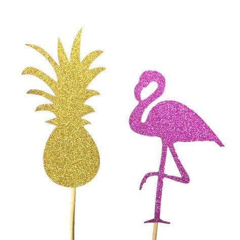 10pcs Pink Flamingo Party Decoration Cupcake Topper Picks