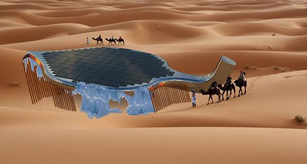 perierga.gr - Ηλιακό φύλλο δημιουργεί πάγο στη Σαχάρα!