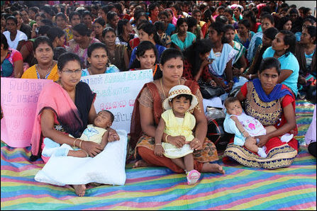 Unemployed graduates protest in Batticaloa