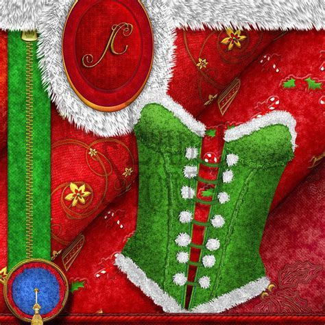 Christmas Santa texture fabric II Santa Texture II 3d