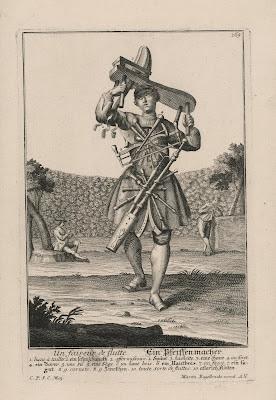 Michael Rössler Un faiseur de flutte (A Male Wind Instrument Maker), mid-18th century