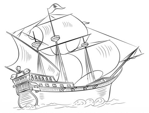 Dibujo De Barco Pirata Para Colorear Dibujos Para Colorear