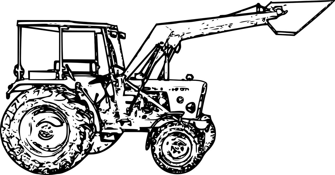 Coloriage Tracteur | Coloriage