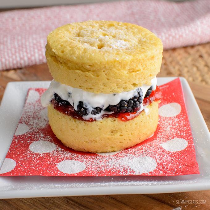 Low Syn Victoria Sponge Mug Cake | Slimming World