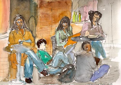 Sketchcrawl 25 - Sketchers at Chelsea Market, New York