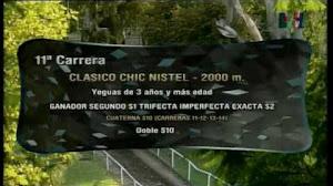 Nuestra candidata FLOR DE BENICIO $3,70 ganó el Clásico Chic Nistel