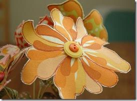 Flor sem miolo e molde da estampa