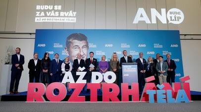 Движение ANO по итогам выборов получило большинство мест в парламенте Чехии