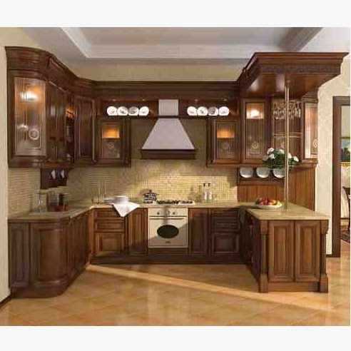 Ash Wood Kitchen Cabinets Hpd350 - Kitchen Cabinets - Al Habib ...