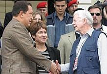Hugo Chávez and Jimmy Carter