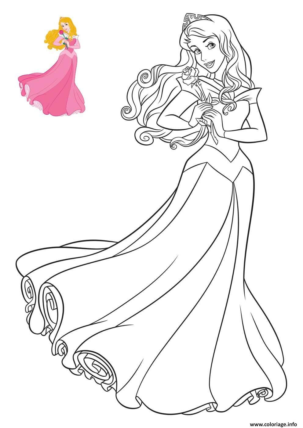 Coloriage Princesse Disney Aurore Jecoloriecom