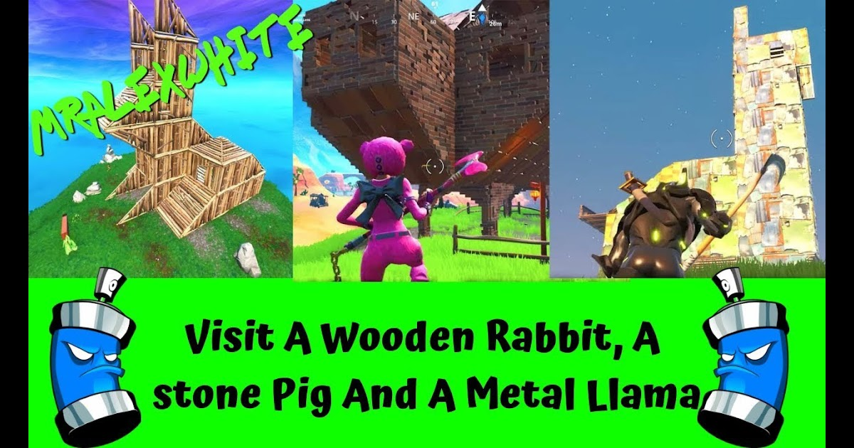 Fortnite Visit A Wooden Rabbit Stone Pig Fortnite Free Xp Hack