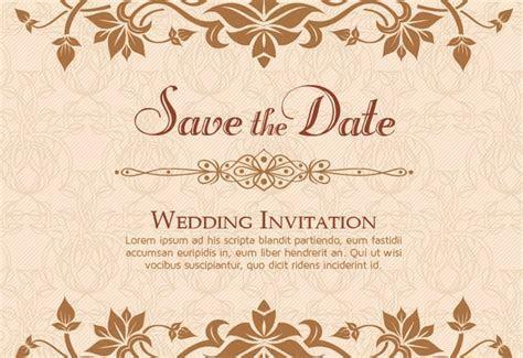10  Free Vector PSD Floristic Wedding Invitation Card
