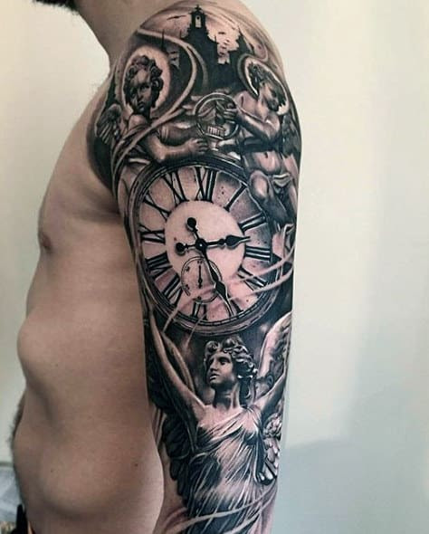 90 Black Ink Tattoo Designs For Men - Dark Ink Ideas