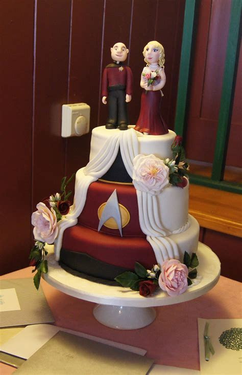My wonderful Star Trek Wedding Cake by Cindy Alderman #