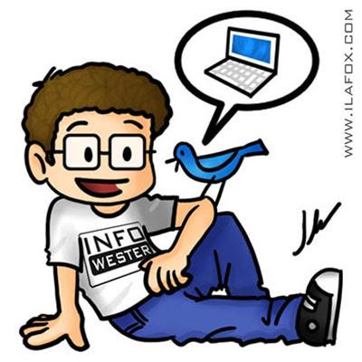 mascote para empresa info wester, dicas para ilustradores, ilustração by ila fox