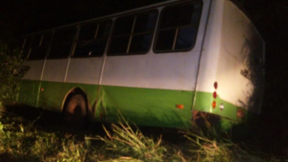 Ônibus com manifestações folclóricas tomba na BR-135 (Foto: PRF / Divulgação)