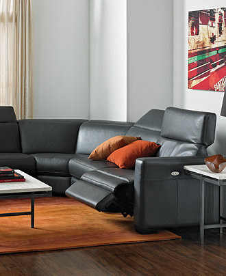 Nicolo Leather Sectional Living Room Furniture Sets ...