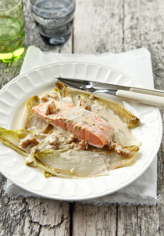 wild salmon with vanilla and endive