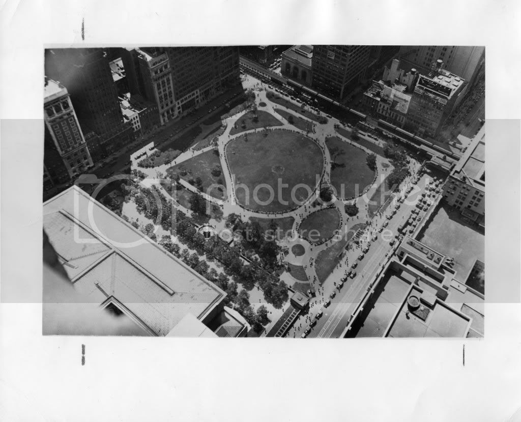Bryant Park from above 1931