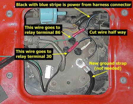 Stealth 316 Fuel Pump Re Wire