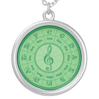 Green Circle of Fifths necklace