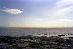 English: View of Lake Managua from Tipitapa, N...
