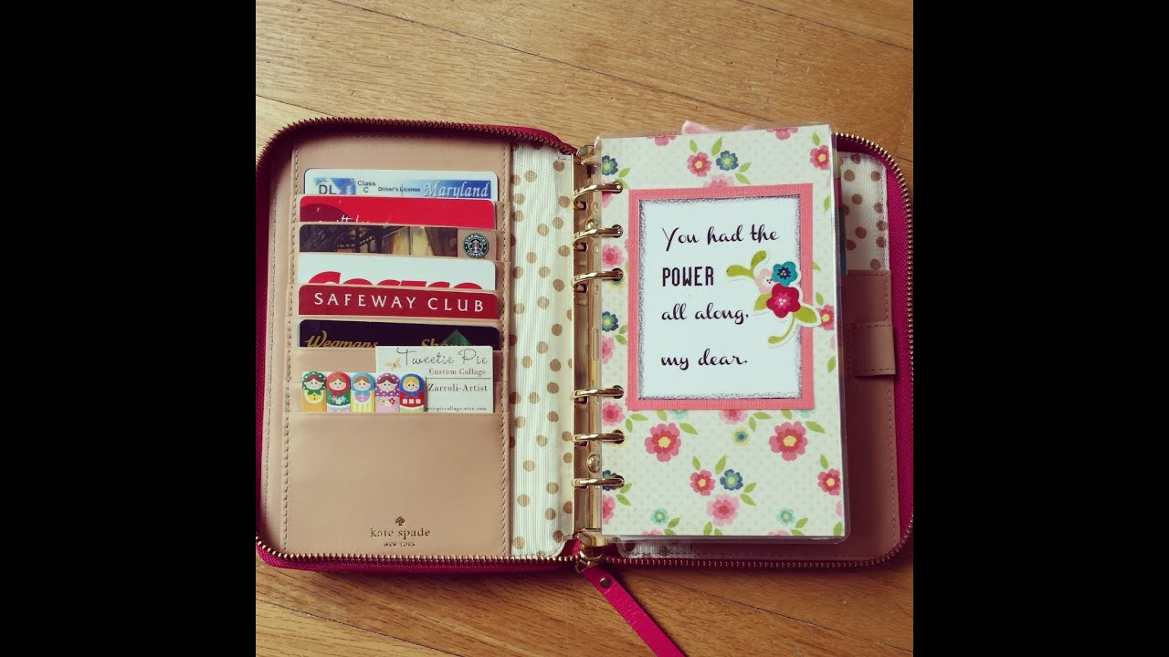 Kate Spade Wellesley Planner with April 2014 set up - YouTube
