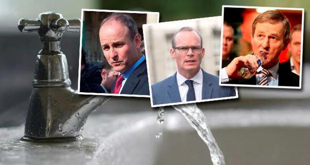 Irish Water latest: Micheal Martin, Simon Coveney and Enda Kenny
