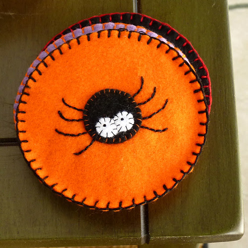Felt Coasters - Spider