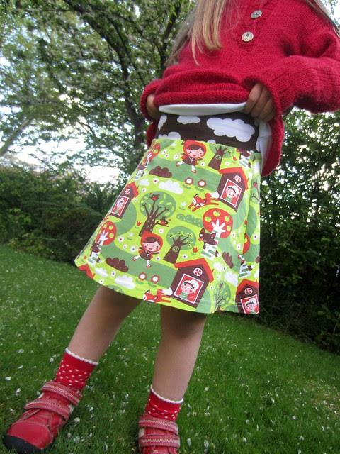 Little Red Riding Hood tennis skirt waistband