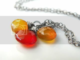 Fire and Sun Chalcedony Necklace