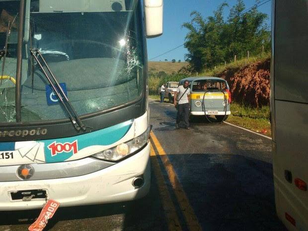 Acidente aconteceu na manhã desta quinta (29) (Foto: 2ª Cia BPRv / Divulgação)