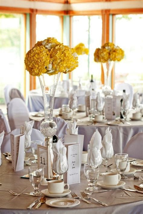 17 Best images about Wedding   Yellow & White & Silver on