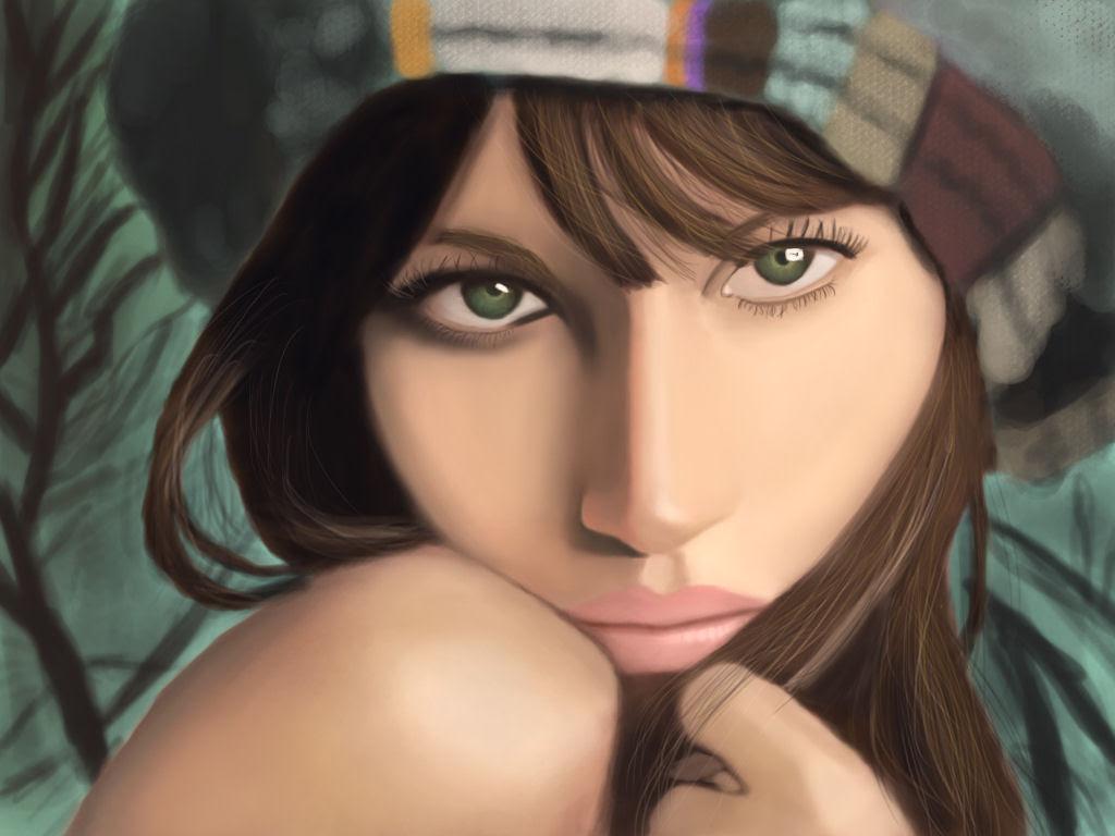 40 obras-primas da pintura digital de celebridades 28