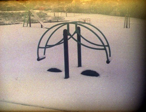 snow in the play park by pho-Tony