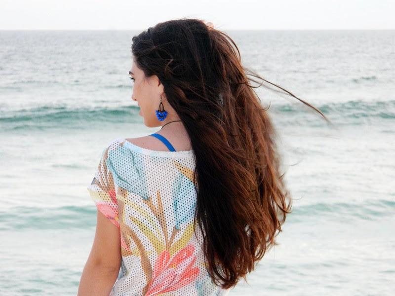 juliana leite make up praia look do dia jeans blusa floral verao 022