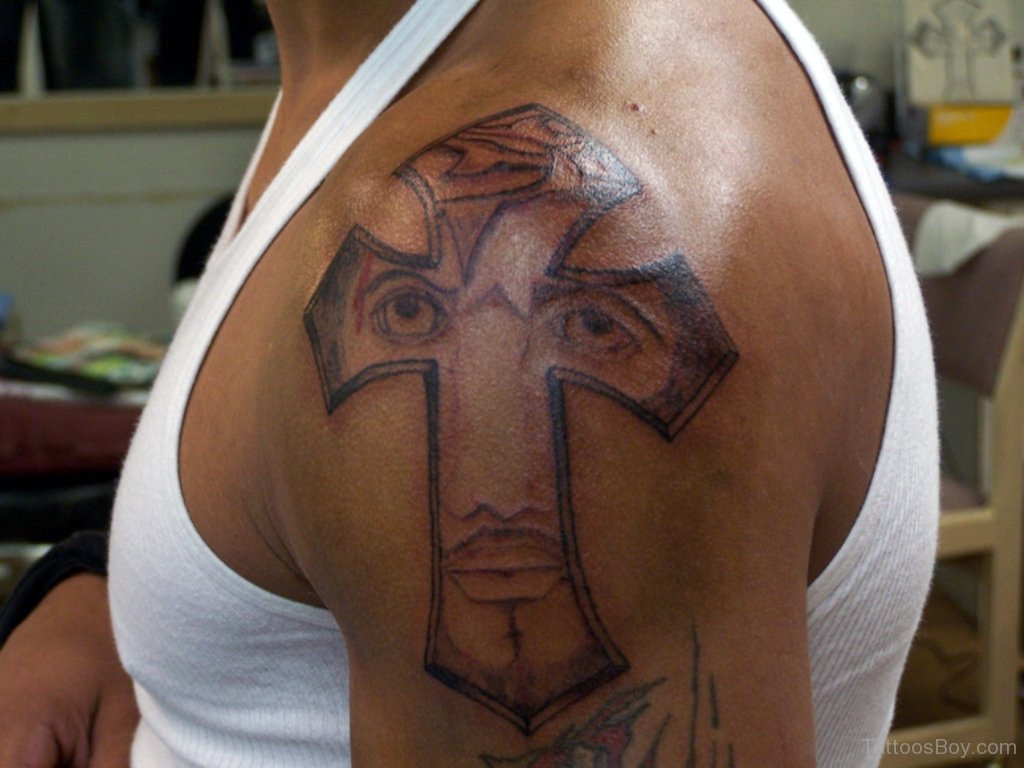 Jesus Cross Tattoo On Shoulder Tattoo Designs Tattoo Pictures