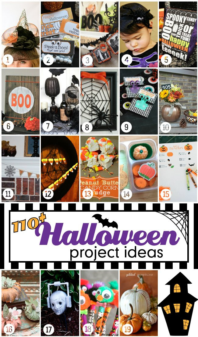 110+ Halloween projects and ideas to  get your ready for Halloween! #halloweenprojects #halloween #diyhalloweenideas