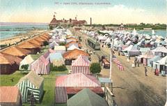 Vintage Postcard, Tent City 3