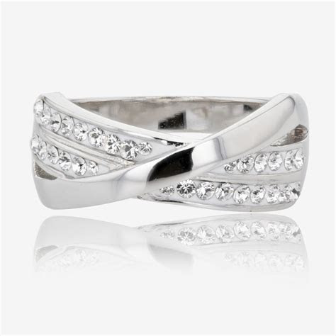 Lucille Sterling Silver Ring Made With Swarovski ® Crystals