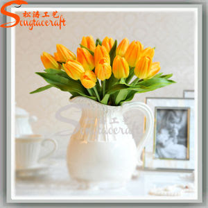 China Garden Silk Vision Decoration Artificial Wedding Flowers Wholesale Fake Tulips  China